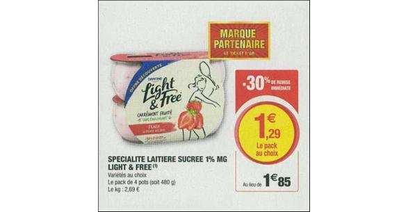 Bon Plan Yaourts Light & Free de Danone chez Magasins U - anti-crise.fr