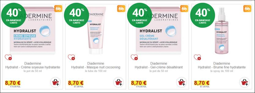 Bon Plan Soin Hydralist de Diadermine chez Intermarché - anti-crise.fr