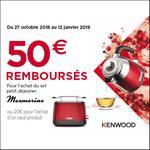 Offre de Remboursement Kenwood : Jusqu'à 50€ Remboursés sur Gamme Mesmerine - anti-crise.fr