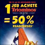 Offre de Remboursement Goliath : 50% Remboursés sur Triominos de Luxe