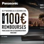 Offre de Remboursement Panasonic : Jusqu'à 100€ Remboursés sur Lecteur/Enregistreur - anti-crise.fr