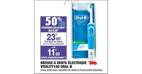 Bon Plan Brosse à Dents Electrique Vitality Oral-B chez Carrefour Market -  anti- f6bd8cc18c0d