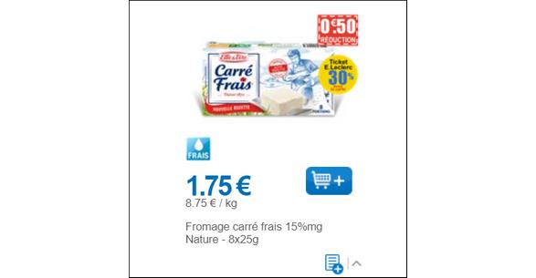 Bon Plan Carré Frais Nature chez Leclerc - anti-crise.fr