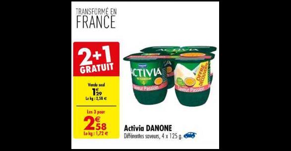 Bon Plan Yaourts Activia de Danone chez Carrefour (27/11 - 03/12) - anti-crise.fr