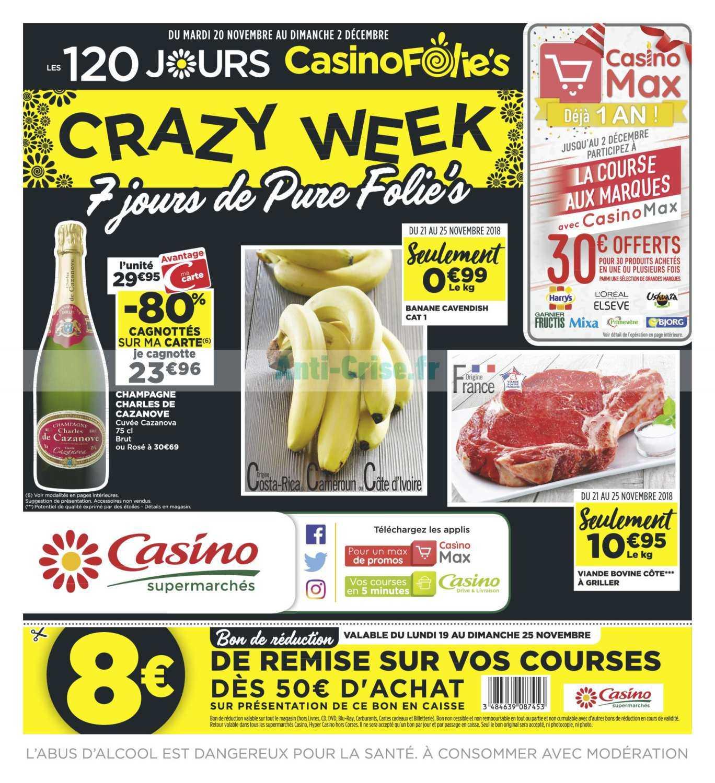 Catalogue Casino du 20 novembre au 02 décembre 2018