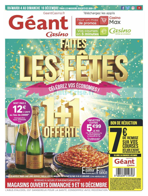 Catalogue Géant Casino du 04 au 16 décembre 2018