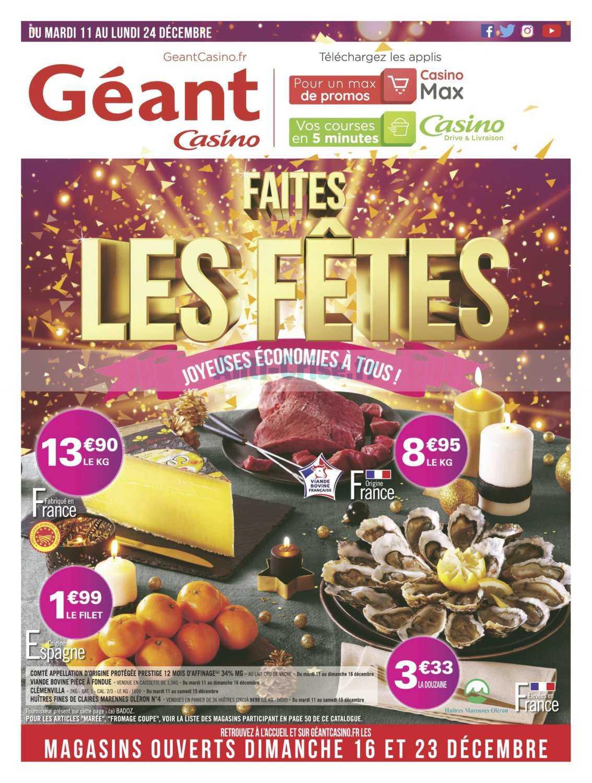 Catalogue Géant Casino du 11 au 24 décembre 2018