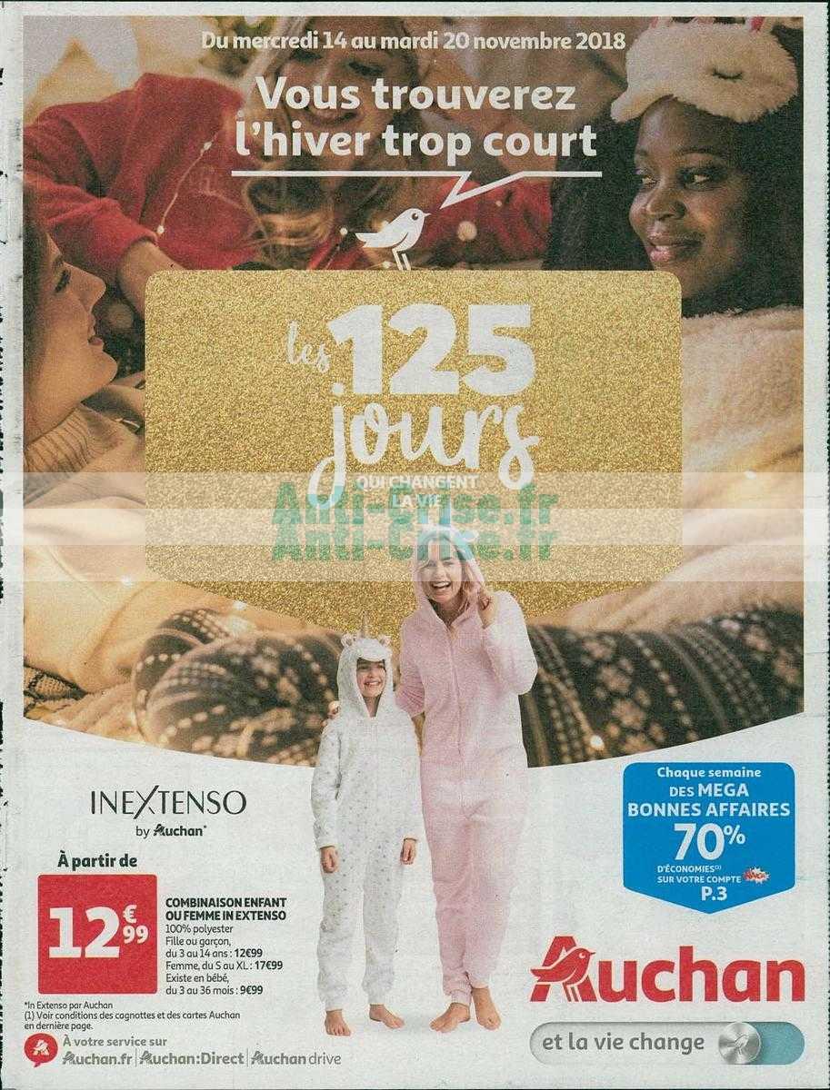 Catalogue Auchan du 14 au 20 novembre 2018 (125 jours)
