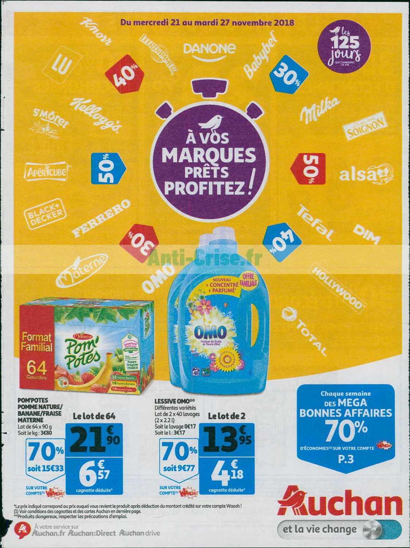 Catalogue Auchan du 21 au 27 novembre 2018 (A Vos Marques)