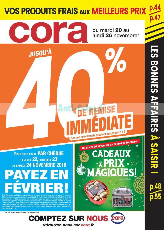 Catalogue Cora du 20 au 26 novembre 2018
