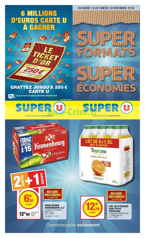 Catalogue Super U du 13 au 24 novembre 2018 (Gros volumes)