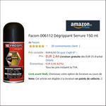 Bon Plan Dégrippant Serrure Facom chez Amazon - anti-crise.fr