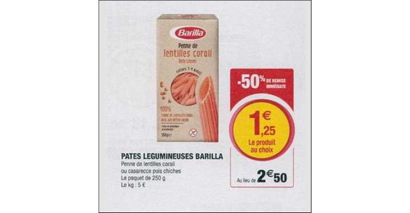 Bon Plan Pâtes Légumineuses Barilla chez Magasins U - anti-crise.fr