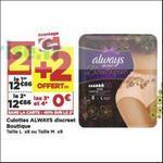 Bon Plan Culottes Always Discreet chez Casino - anti-crise.fr