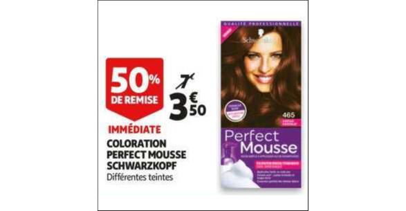 Bon Plan Coloration Perfect Mousse de Schwarzkopf chez Auchan - anti-crise.fr