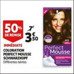 Bon Plan Coloration Perfect Mousse de Schwarzkopf chez Auchan - anti-crise.fr