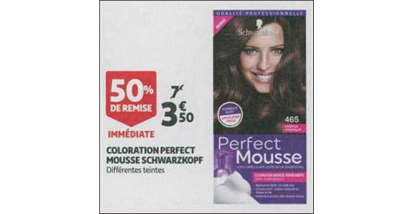 Bon Plan Coloration Perfect Mousse de Schwarzkopf chez Auchan Supermarché - anti-crise.fr