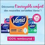 Offre de Remboursement Shopmium : Serviettes Vania Ultra 100% Remboursé - anti-crise.fr