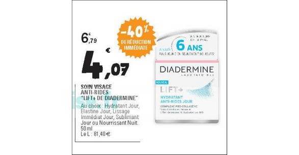 Bon Plan Soin Lift+ de Diadermine chez Leclerc - anti-crise.fr