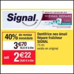 Bon Plan Dentifrice Signal Néo Email Repare et Protège chez Cora (04/12 - 10/12) - anti-crise.Fr