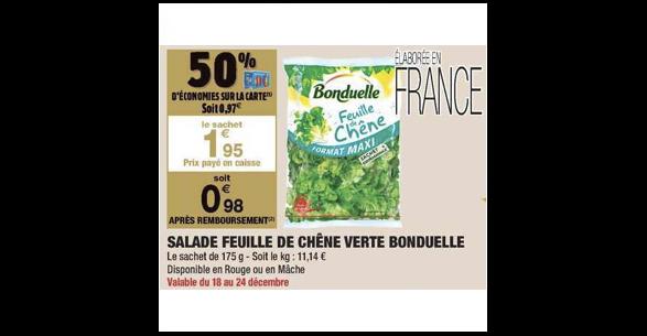 Bon Plan Salade Bonduelle chez Carrefour Market (18/12 - 24/12) - anti-crise.fr