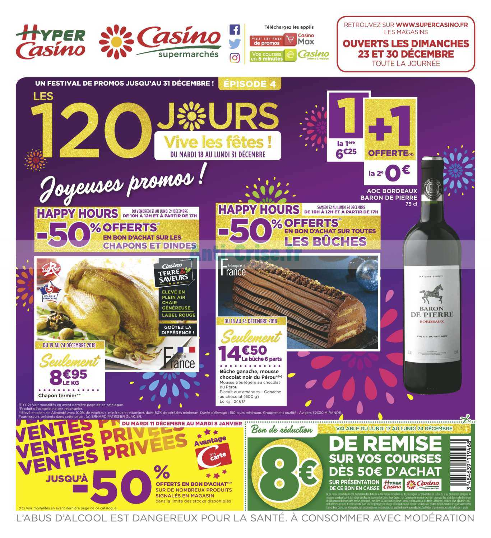 Catalogue Casino du 18 au 31 décembre 2018