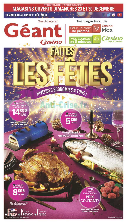 Catalogue Géant Casino du 18 au 31 décembre 2018