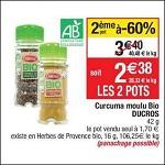 Bon Plan Curcuma Bio Ducros chez Cora (02/01 - 07/01) - anti-crise.fr