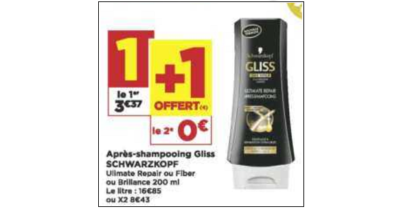 Bon Plan Après-Shampooing Gliss chez Casino (04/12 - 16/12) - anti-crise.fr