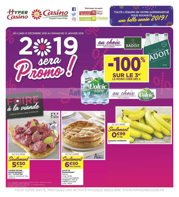 Catalogue Casino du 31 décembre 2018 au 13 janvier 2019
