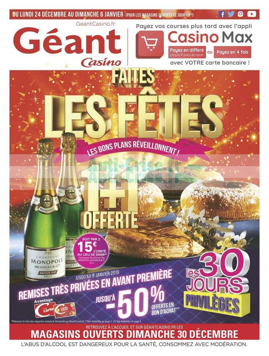 Catalogue Géant Casino du 24 décembre 2018 au 06 janvier 2019