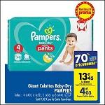 Bon Plan Culottes Baby-Dry Pants Pampers chez Carrefour (02/01 - 07/01) - anti-crise.fr