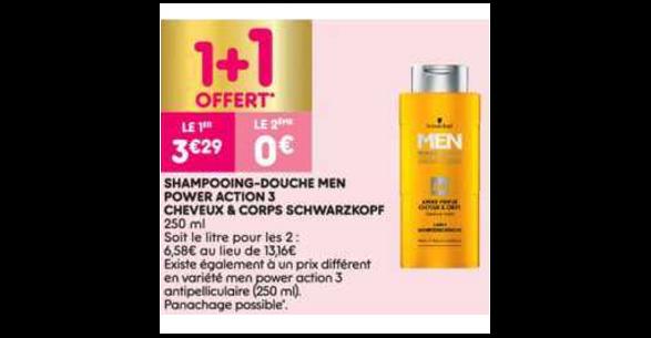 Bon Plan Shampooing Men Schwarzkopf chez Leader Price (18/12 - 24/12) - anti-crise.Fr