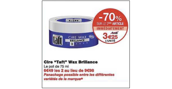 Bon Plan Cire Taft chez Monoprix (19/12 - 31/12) - anti-crise.fr
