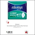 Bon Plan Serviettes Always Ultra Partout - anti-crise.fr