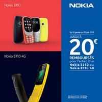 Offre de Remboursement Nokia : 20€ Remboursés sur Téléphone 3310 ou 8110 4G
