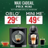 Offre de Remboursement Krups : Machine Dolce Gusto Oblo à 29€ et Mini Me à 49€