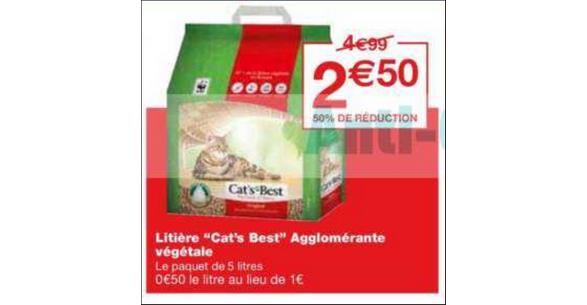 Bon Plan Litière Cat's Best chez Monoprix - anti-crise.fr