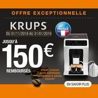 Offre de Remboursement Krups : Jusqu'à 150€ Remboursés sur Broyeur à Grain