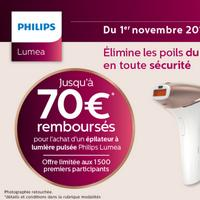Offre de Remboursement Philips : Jusqu'à 70€ Remboursés sur Epilateur à Lumière Pulsée Lumea