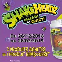 Offre de Remboursement Giochi Preziosi : 2ème Produit ShakeHeadz 100% Remboursé