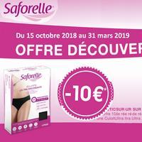 Offre de Remboursement Saforelle : 10€ Remboursés sur une Culotte Ultra Absorbante