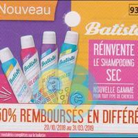 Offre de Remboursement Batiste : Shampoing Sec 50% Remboursé chez Leclerc