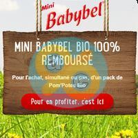 Offre de Remboursement Babybel : Mini Babybel Bio 100% Remboursé pour l'Achat d'un Pom'Potes Bio
