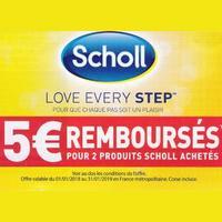 Offre de Remboursement Scholl : 5€ Remboursés pour 2 Produits