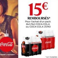 Offre de Remboursement Coca-Cola : 15€ Remboursés en Bons sur 1 Pack