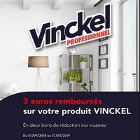 Offre de Remboursement Vinckel : 3€ Remboursés en 2 Bons