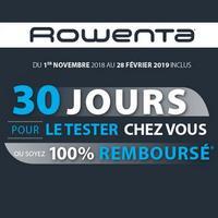 Offre d'Essai Rowenta : Chauffage Ventilateur Air Force Satisfait ou 100% Remboursé