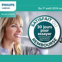 Offre d'Essai Philips : Brosse à Dents ou AirFloss Sonicare Satisfait ou 100% Remboursé