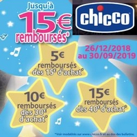 Offre de Remboursement Chicco : Jusqu'à 15€ Remboursés sur First Deams